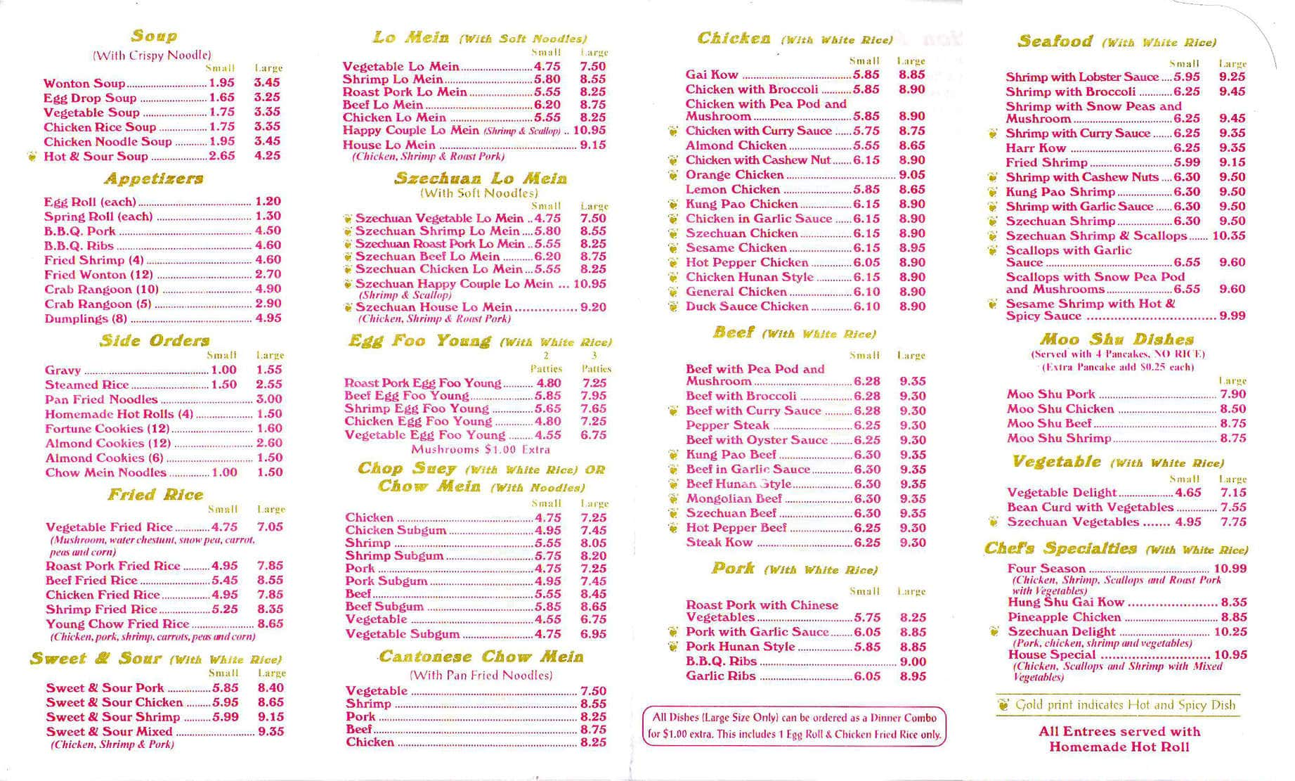 yun s village menu menu for yun s village westland detroit