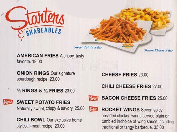 Johnny Rockets Menu, Menu for Johnny Rockets, Jumeirah 1 ...
