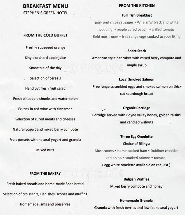 magic glasses - o'callaghan stephen's green hotel menu - zomato