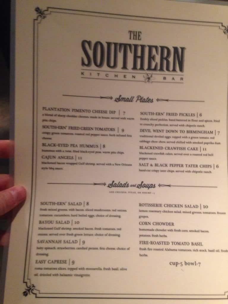 The southern kitchen bar menu urbanspoon zomato for The perfect kitchen menu