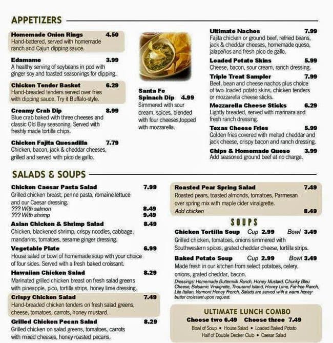 cheddars scratch kitchen wellington menu - Cheddar Scratch Kitchen