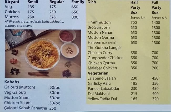 rumis kitchen dlf phase 4 menu - Rumis Kitchen 2