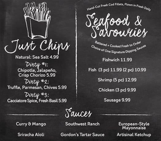 Menu at gordon ramsay fish chips restaurant las vegas for Gordon ramsay las vegas fish and chips