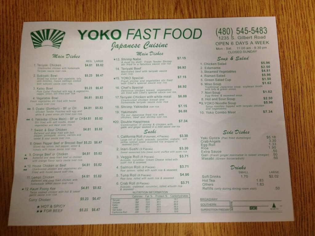 Fast Food Mesa Az