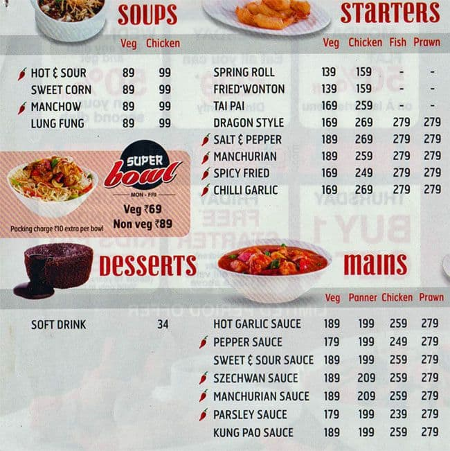 Wangs Kitchen Menu, Menu for Wangs Kitchen, RS Puram, Coimbatore ...