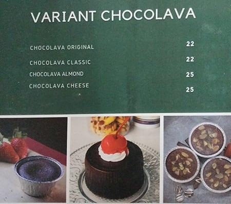 Alania Chocolava Menu Menu For Alania Chocolava Jagakarsa Jakarta