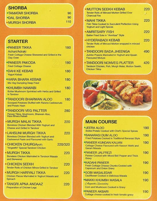 Angeethi menu menu for angeethi khajpura patna zomato for Angeethi indian cuisine leesburg