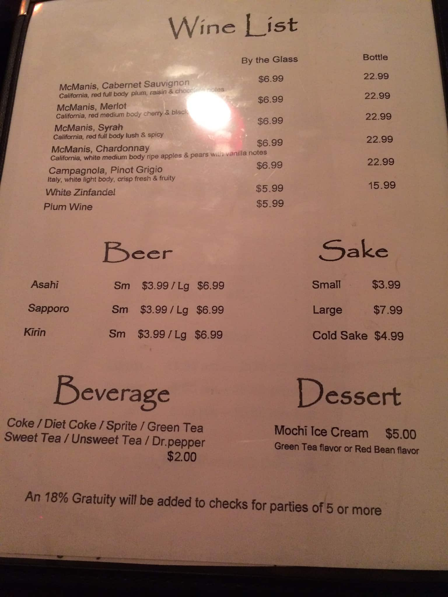 Little Tokyo Menu, Menu for Little Tokyo, Cary, Research Triangle ...