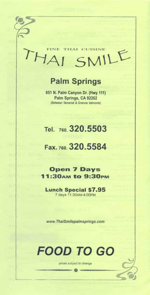 Thai Food Delivery Palm Springs