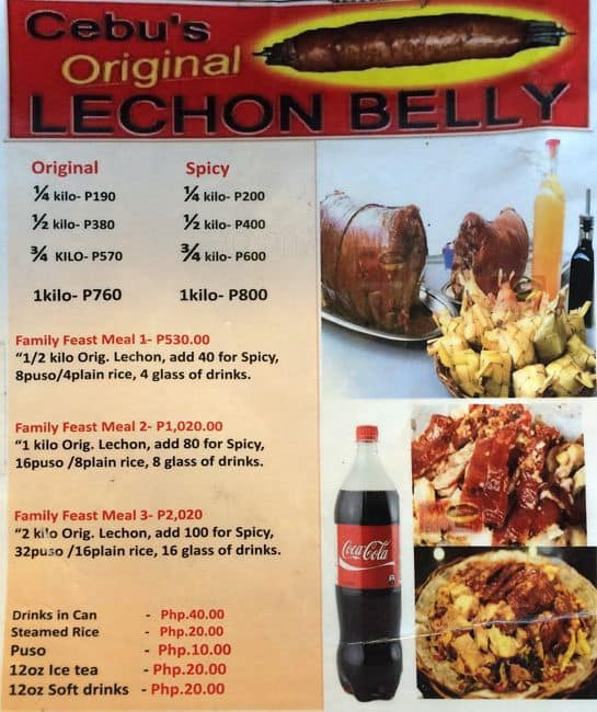 Cebu S Original Lechon Belly Menu Zomato Philippines