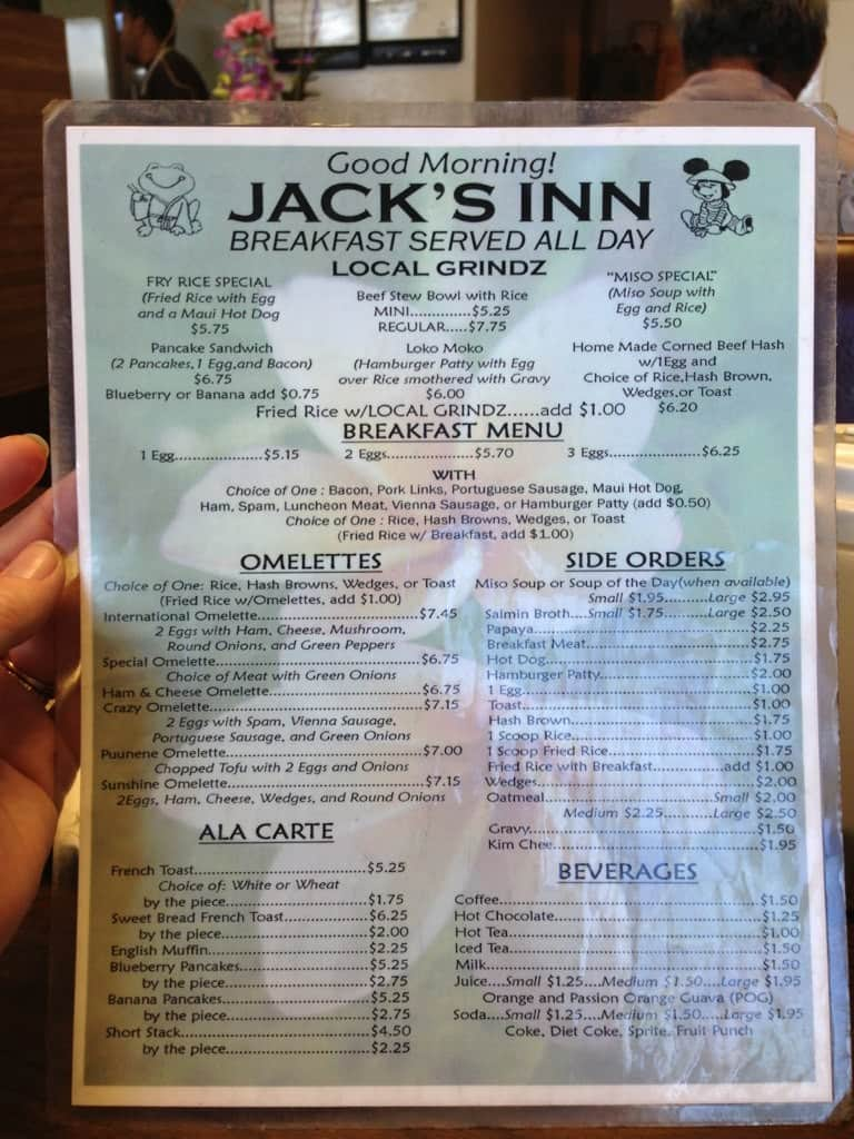 Jack\'s Inn Menu, Menu for Jack\'s Inn, Kahului, Rest of Hawaii ...
