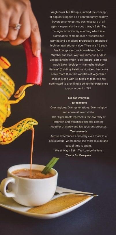 Wagh Bakri Tea Lounge Menu, Menu for Wagh Bakri Tea Lounge