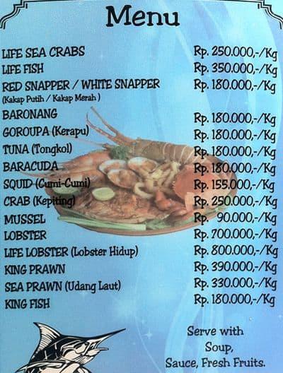 Blue Marlin Menu, Menu for Blue Marlin, Jimbaran, Bali - Zomato Indonesia