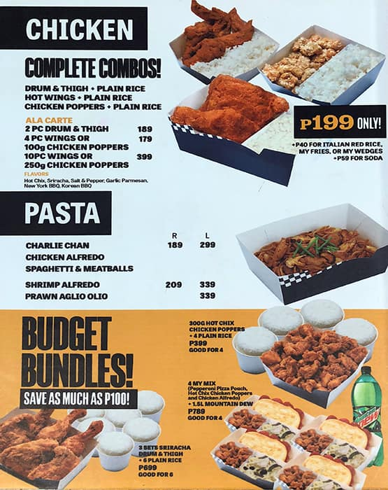 Yellow Cab Pizza Co Menu Menu For Yellow Cab Pizza Co Libis
