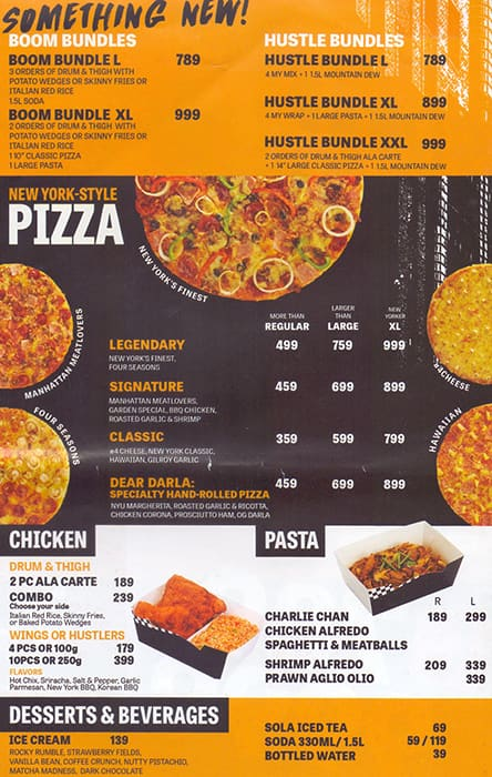 Yellow Cab Pizza Co. Menu