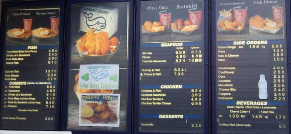 Moby dick seafood lou ky