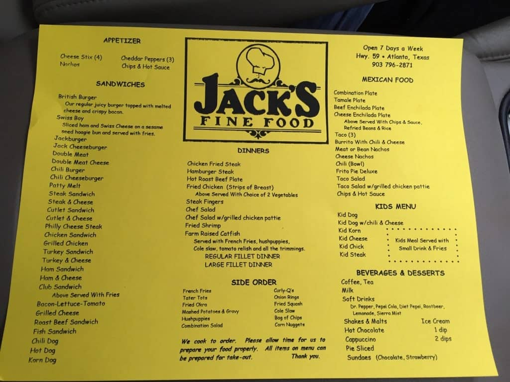 Jack\u0027s Fine Food Atlanta Menu & Jack\u0027s Fine Food Menu Menu for Jack\u0027s Fine Food Atlanta Atlanta ...
