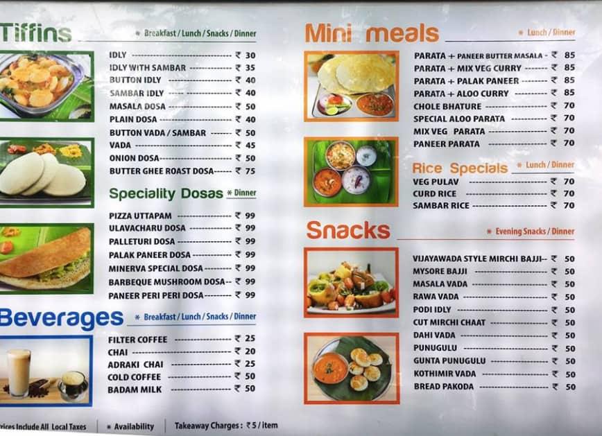 Minerva express menu menu for minerva express madhapur for 328 chinese cuisine menu