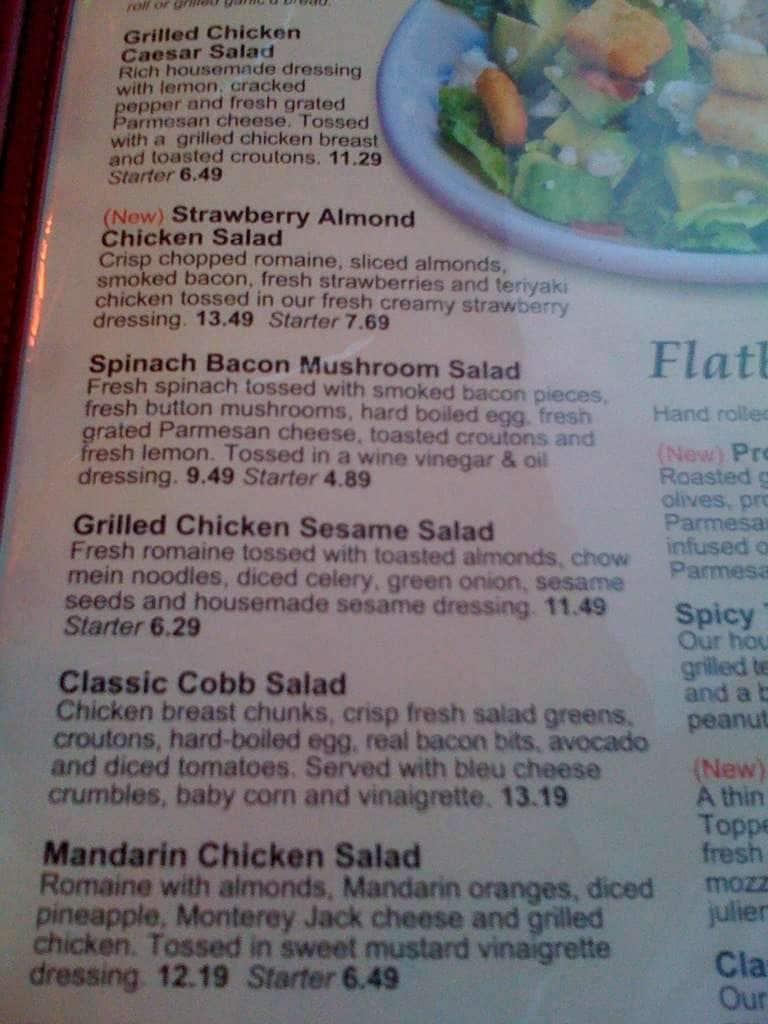 The Onion Restaurant Spokane Menu