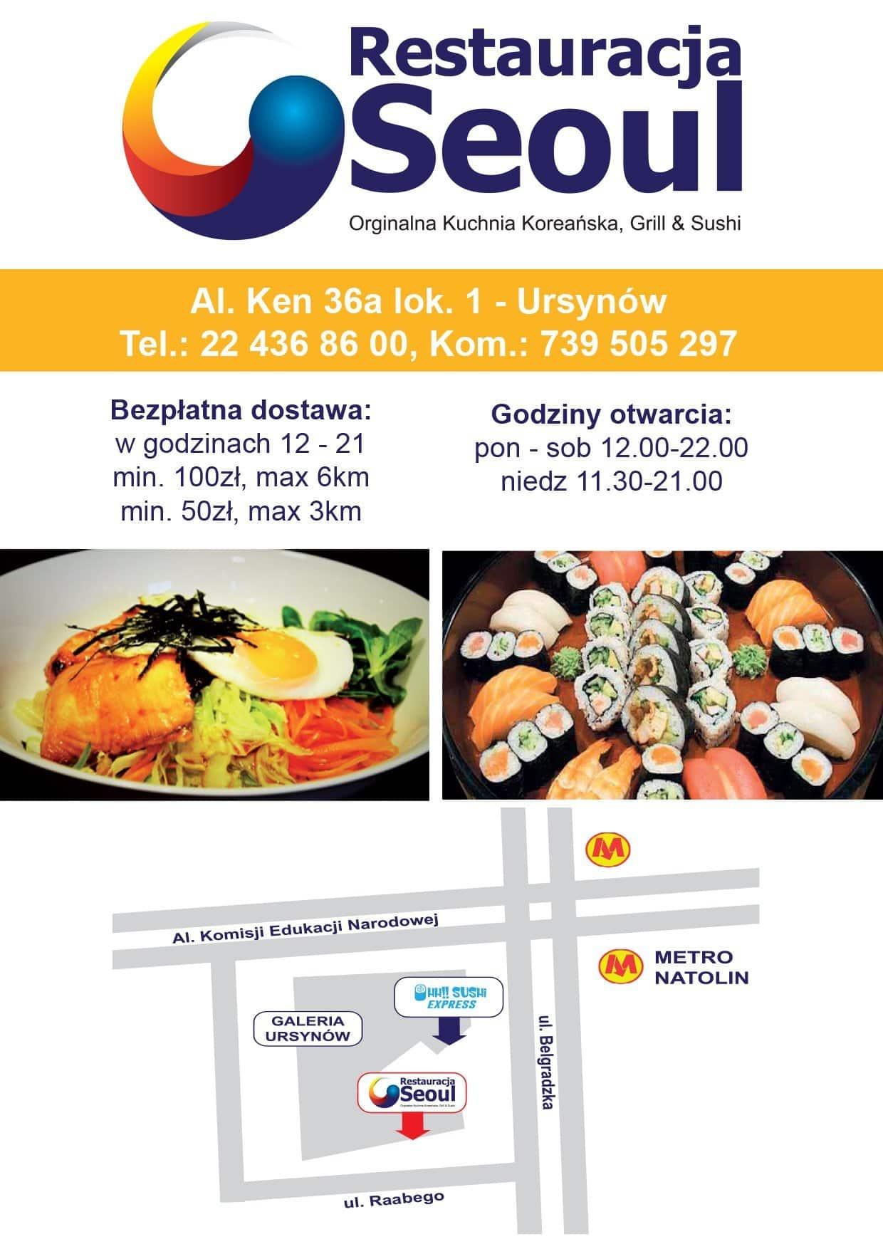 Seoul Menu Menu For Seoul Ursynow Warszawa Gastronauci Zomato