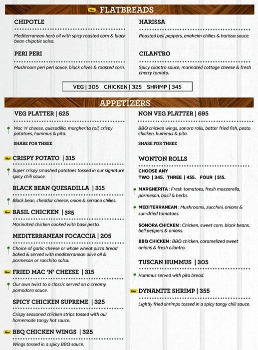 wonderful California Pizza Kitchen Lunch Menu #10: California Pizza Kitchen, Malad West Menu