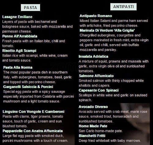 Italian Restaurant San Carlos Ca