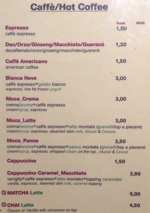 Juice Bar Menu Menu For Juice Bar Duomo Milano Zomato Italy