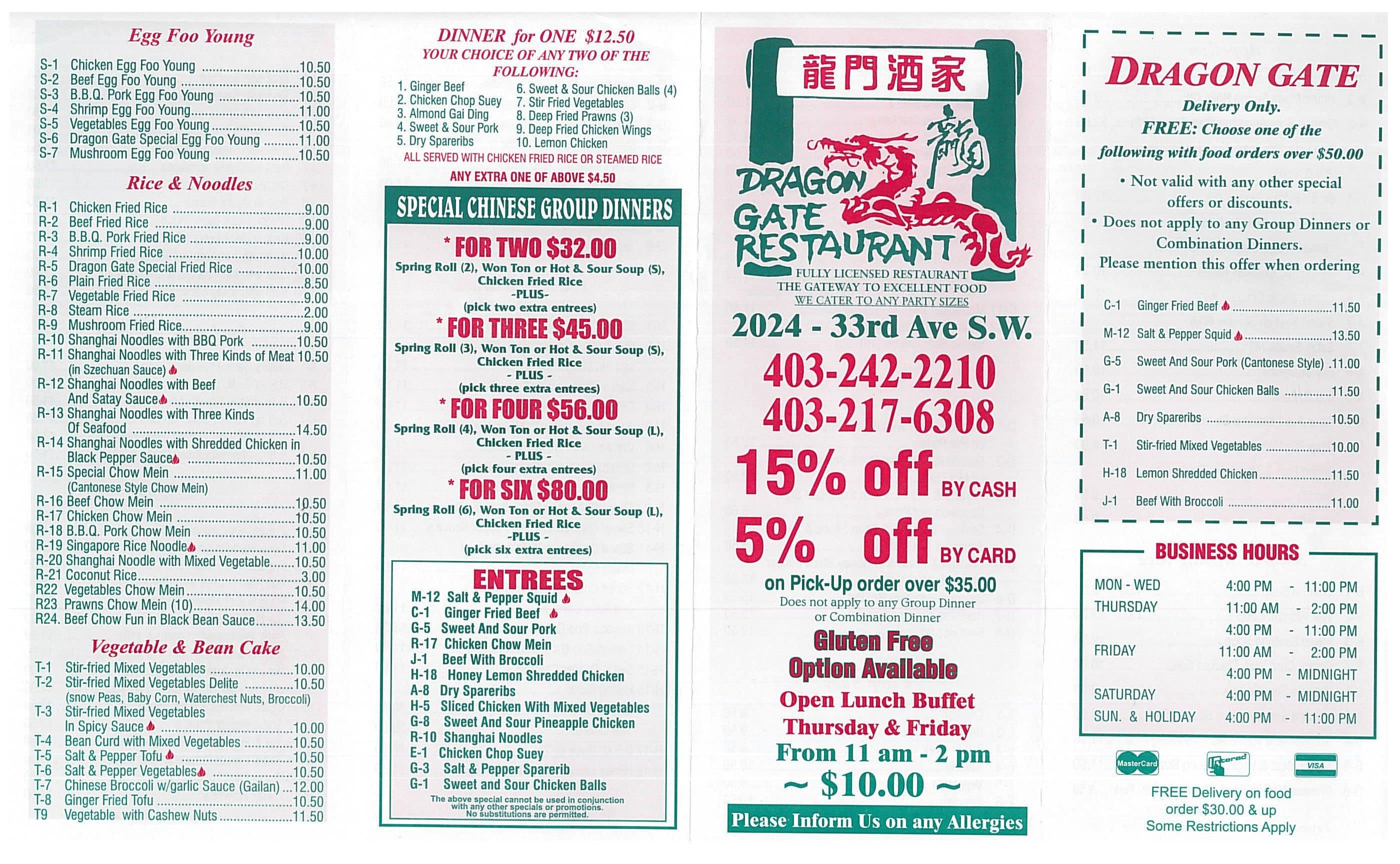 Little City Chinese Food Menu Calgary