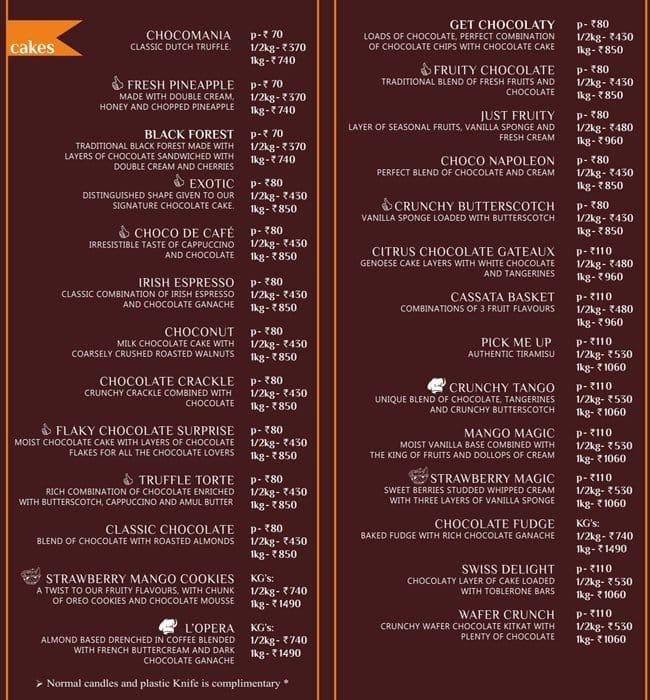 hangout cakes more menu menu for hangout cakes more 7