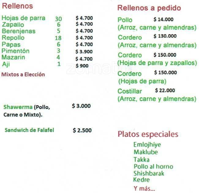Amira Menu, Menu for Amira, Recoleta, Santiago - Zomato Chile