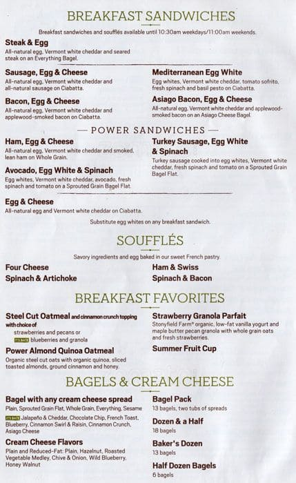 photo relating to Panera Printable Menu identified as Panera Bread Menu, Menu for Panera Bread, Downtown Brooklyn