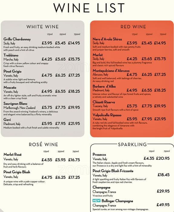 Menu At Pizza Express Pizzeria Glasgow 151 Queen St