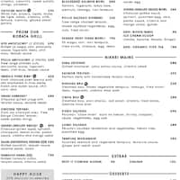 Nikkei Nama Bar Menu Menu For Nikkei Nama Bar Bonifacio Global