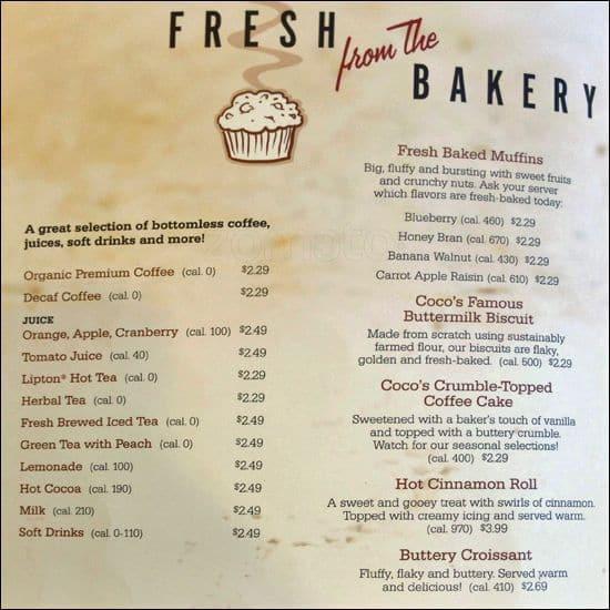 Cocos bakery restaurant menu urbanspoonzomato cocos bakery restaurant campbell menu altavistaventures Image collections