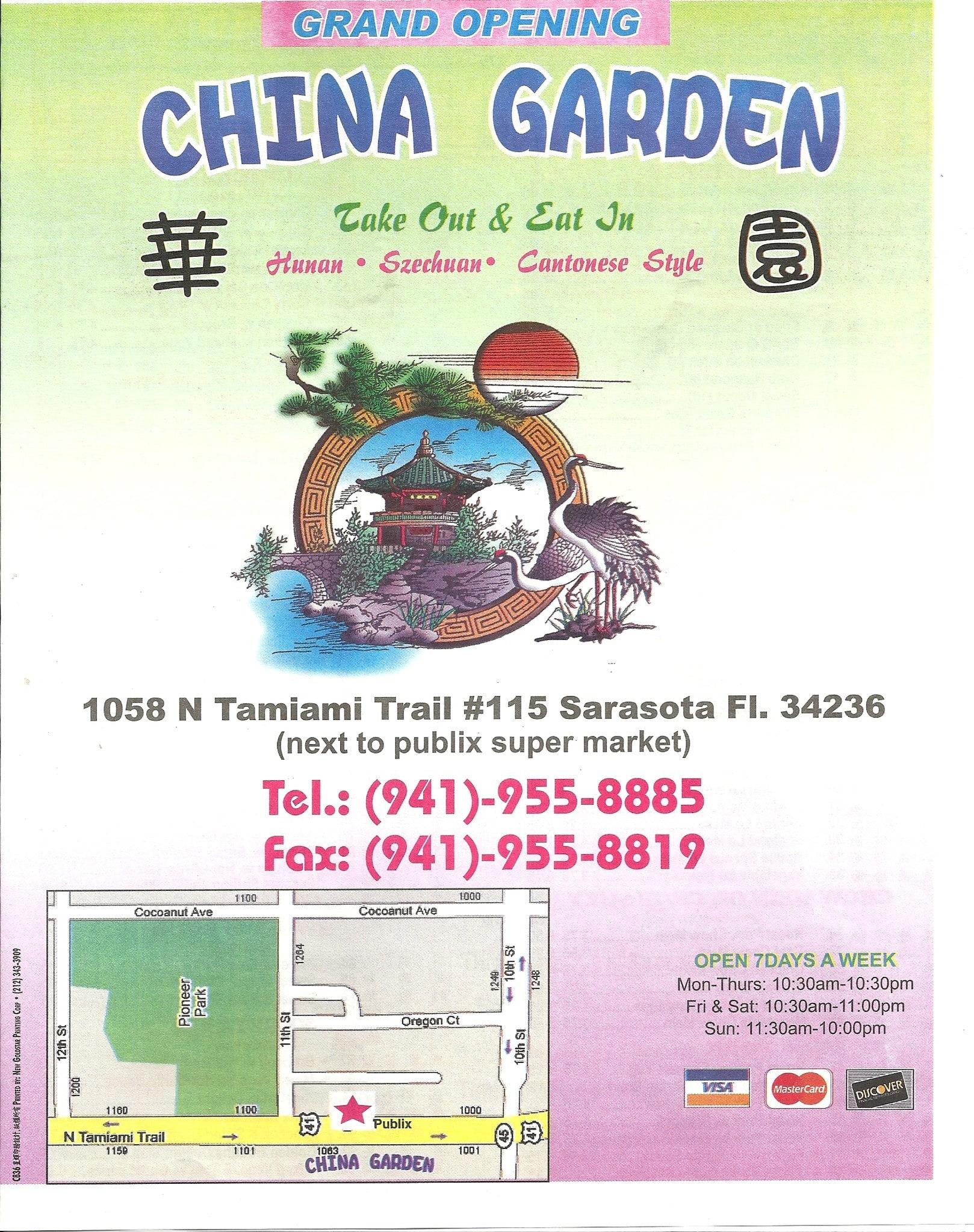 China Garden Menu Menu For China Garden Sarasota Tampa Bay