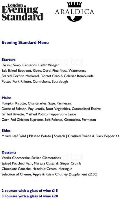Menu at blueprint caf london the restaurant information including the blueprint caf menu items and prices may have been modified since the last website update malvernweather Images
