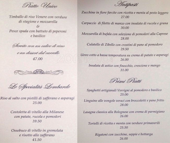 Gucci Cafe Prices