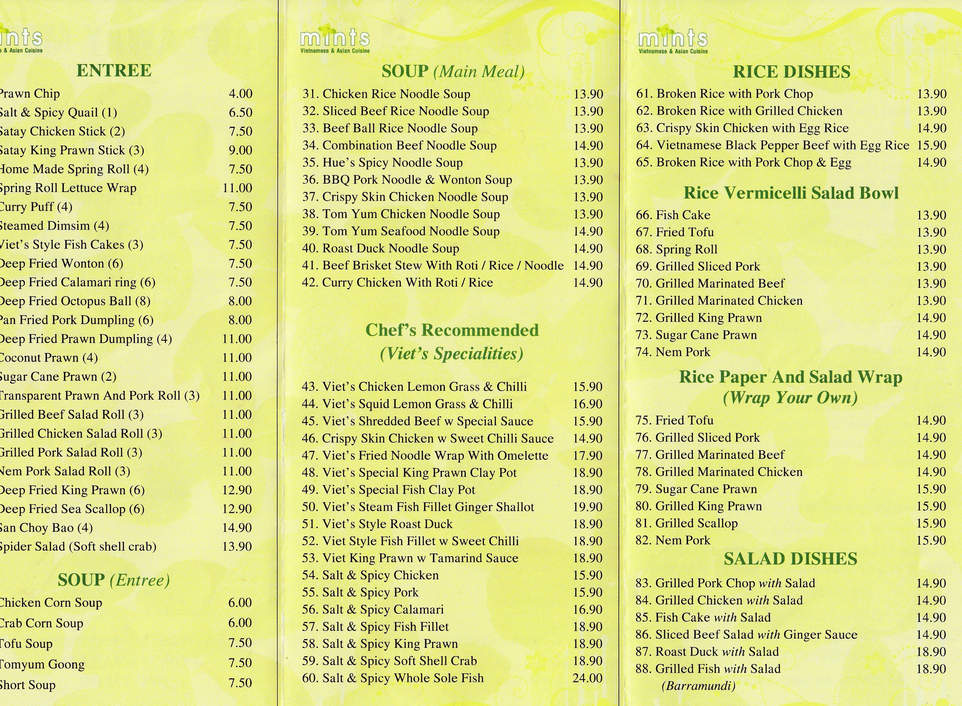Asian Mint Restaurant 52