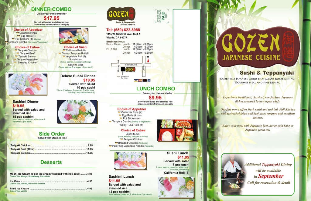 Gozen Menu Menu For Gozen Visalia Visalia Urbanspoonzomato
