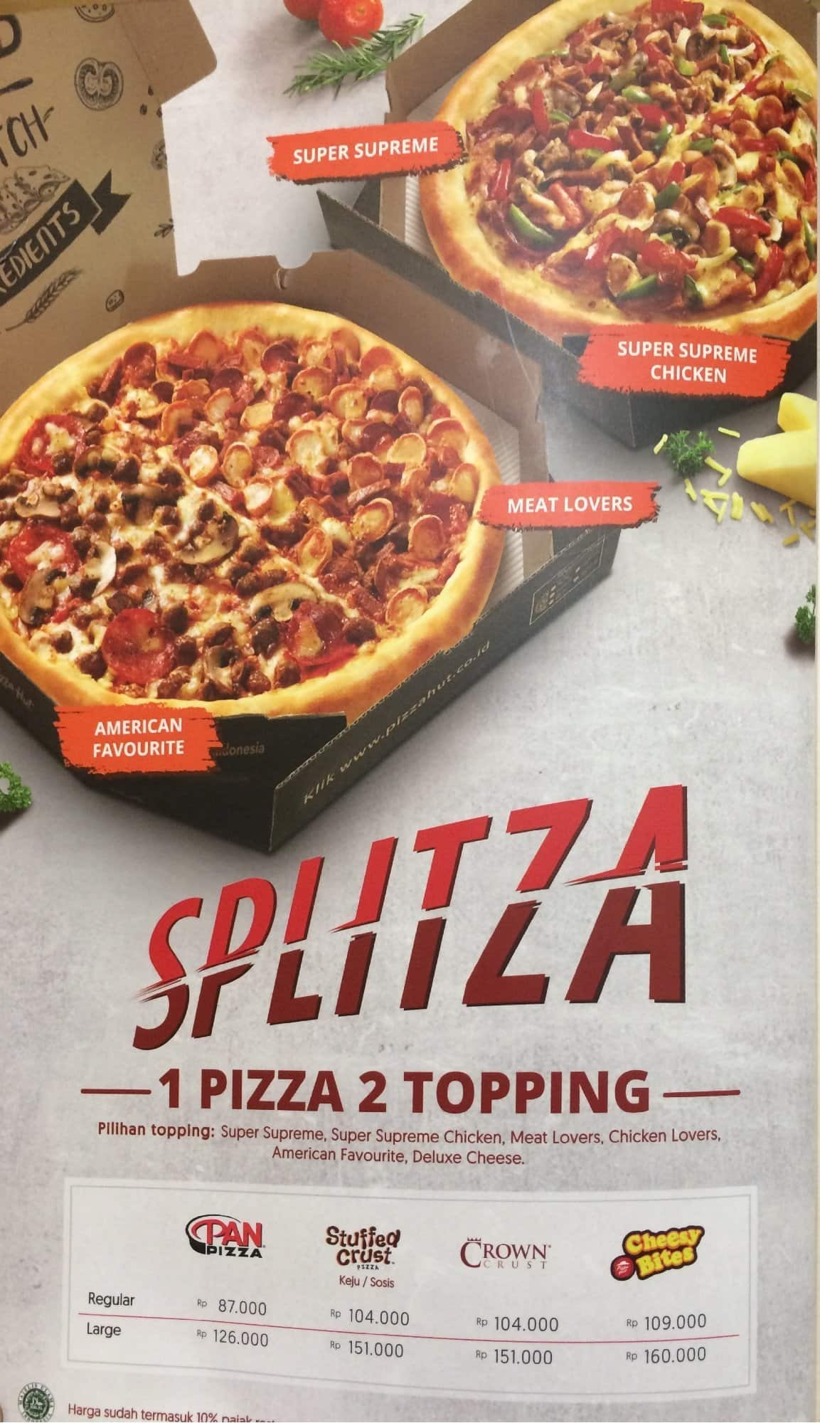 Pizza Hut Menu Menu For Pizza Hut Sudirman Jakarta