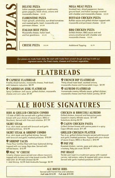 The Restaurant Information Including The Bulldog Ale House Menu Items And  Prices May Have Been Modified Since The Last Website Update.