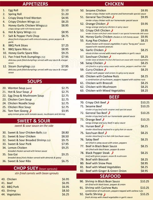 Chop Chop Wok Menu, Menu for Chop Chop Wok, North York, Toronto