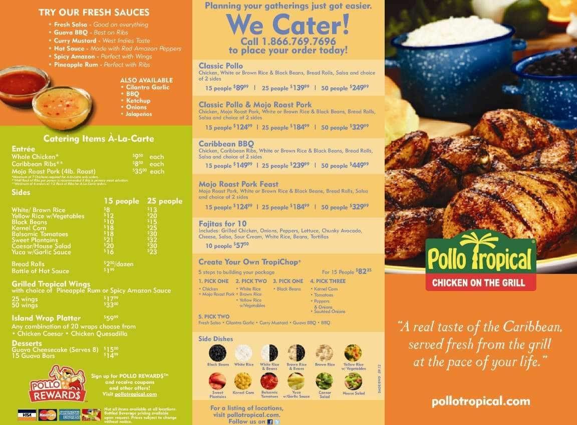 Pollo Tropical Restaurant Menu