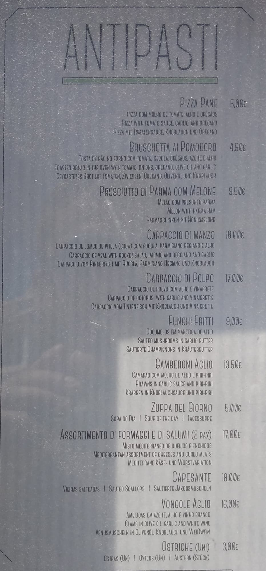 Primavera Ristorante Trattoria Menu - Zomato Portugal