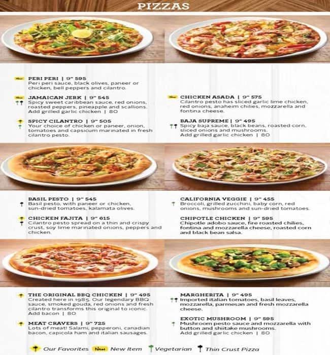 California Pizza Kitchen Menu Prices