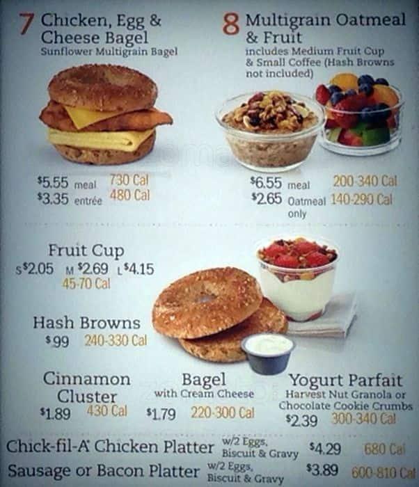chick fil a menu pdf