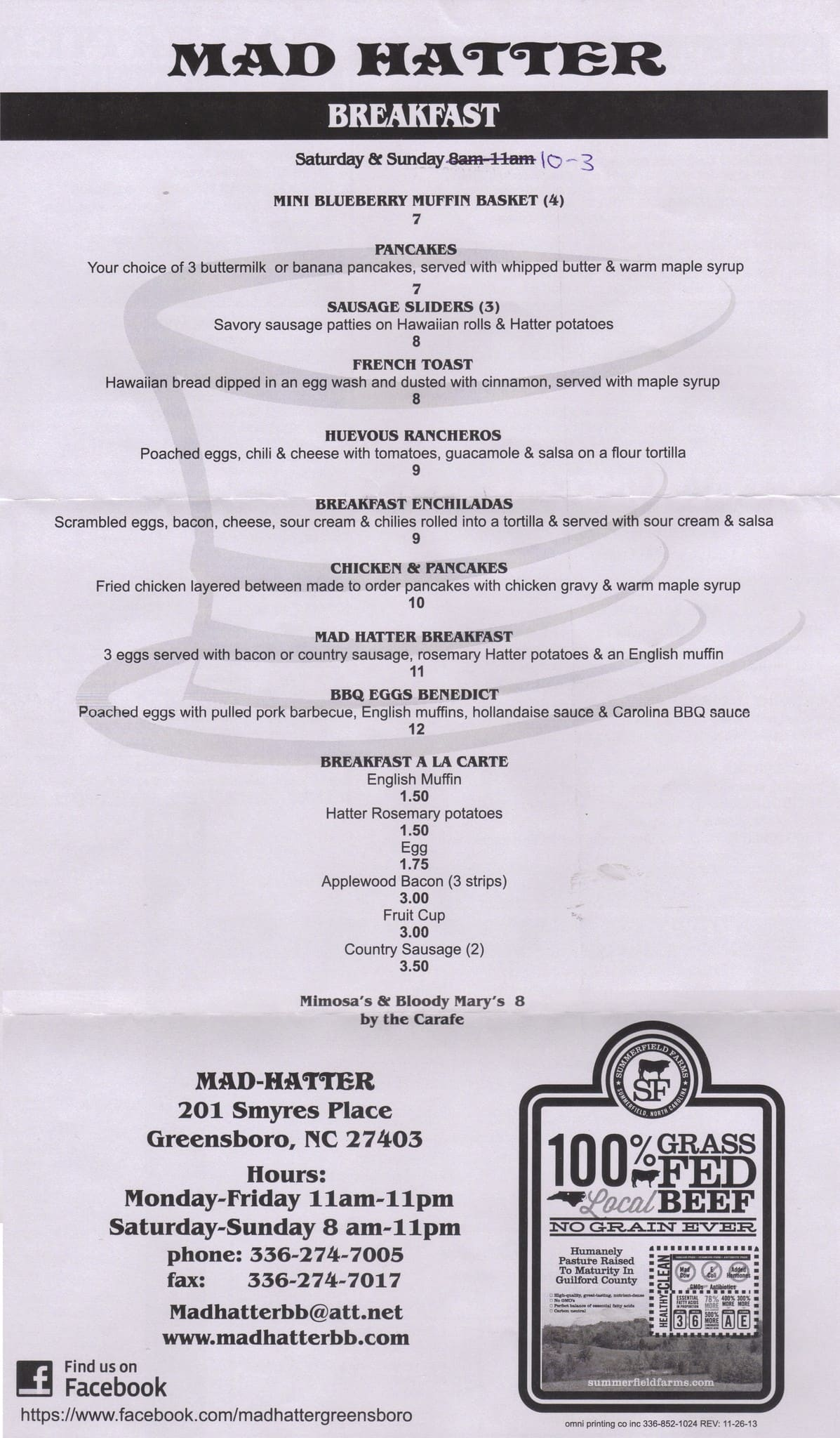 Mad Hatter Menu Menu For Mad Hatter Greensboro Piedmont Triad