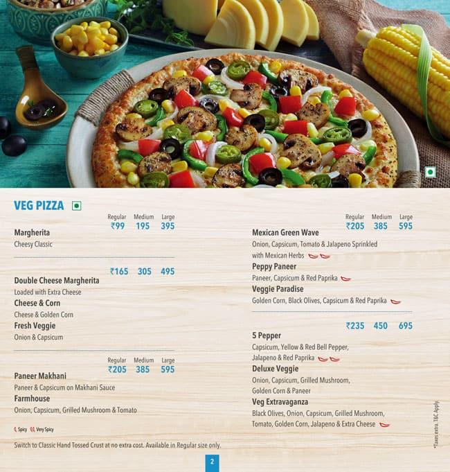 Domino S Pizza Menu Menu For Domino S Pizza Udhna Gam Surat Zomato
