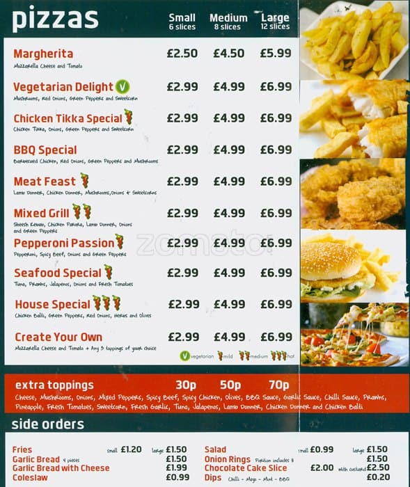 Image result for english fast food menu