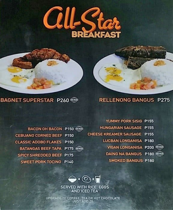 Ally S All Day Breakfast Place Menu Zomato Philippines